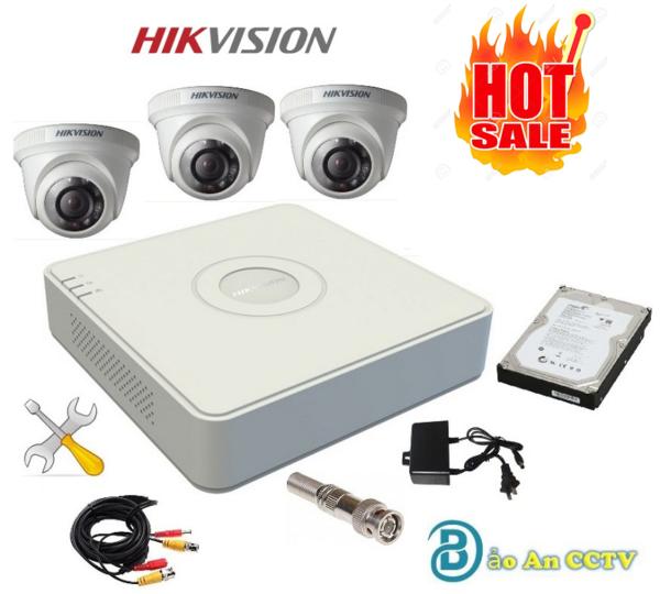 Bộ Camera trọn gói 3 Camera Hikvision